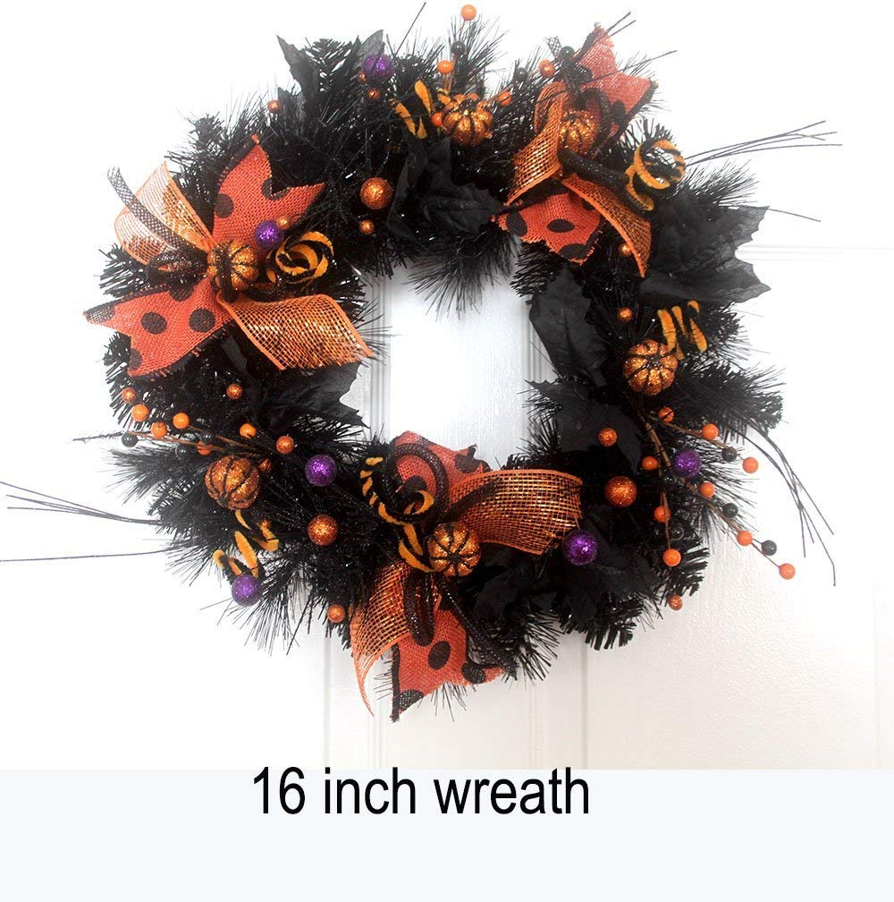 Get Quotations Small Wreath Door Wreathe Orange And Black