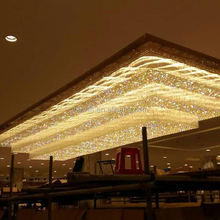 גדול מותאם אישית מלון לובי אולם אירועים קריסטל נברשת אור תאורה מודרני