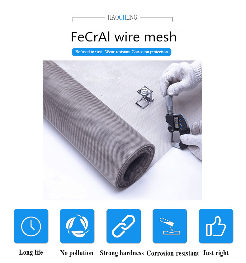 80 mesh FeCrAl wire mesh electronic cigarette wire mesh filter