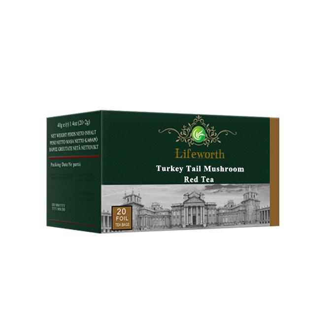 Lifeworth turkey tail private label detox red tea bag - 4uTea | 4uTea.com