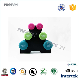 PROIRON Factory Wholesale Vinyl Dipping Neoprene Dumbbell Set