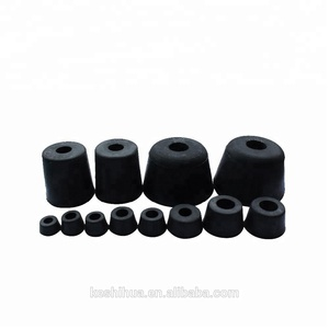 Furniture Black Rubber Foot Covers Pads