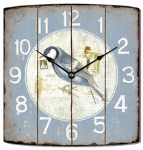 12 inch quartz metal beautiful iron wall clock birds printed