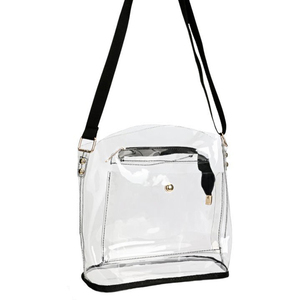 Stadium Approved Messenger Shoulder Bag Clear Crossbody Purse Bag with Strap