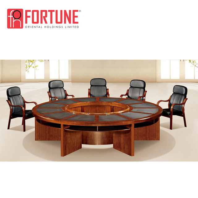 Large Round Wooden Conference Room Meeting Table Fohsc Buy - Large round meeting table