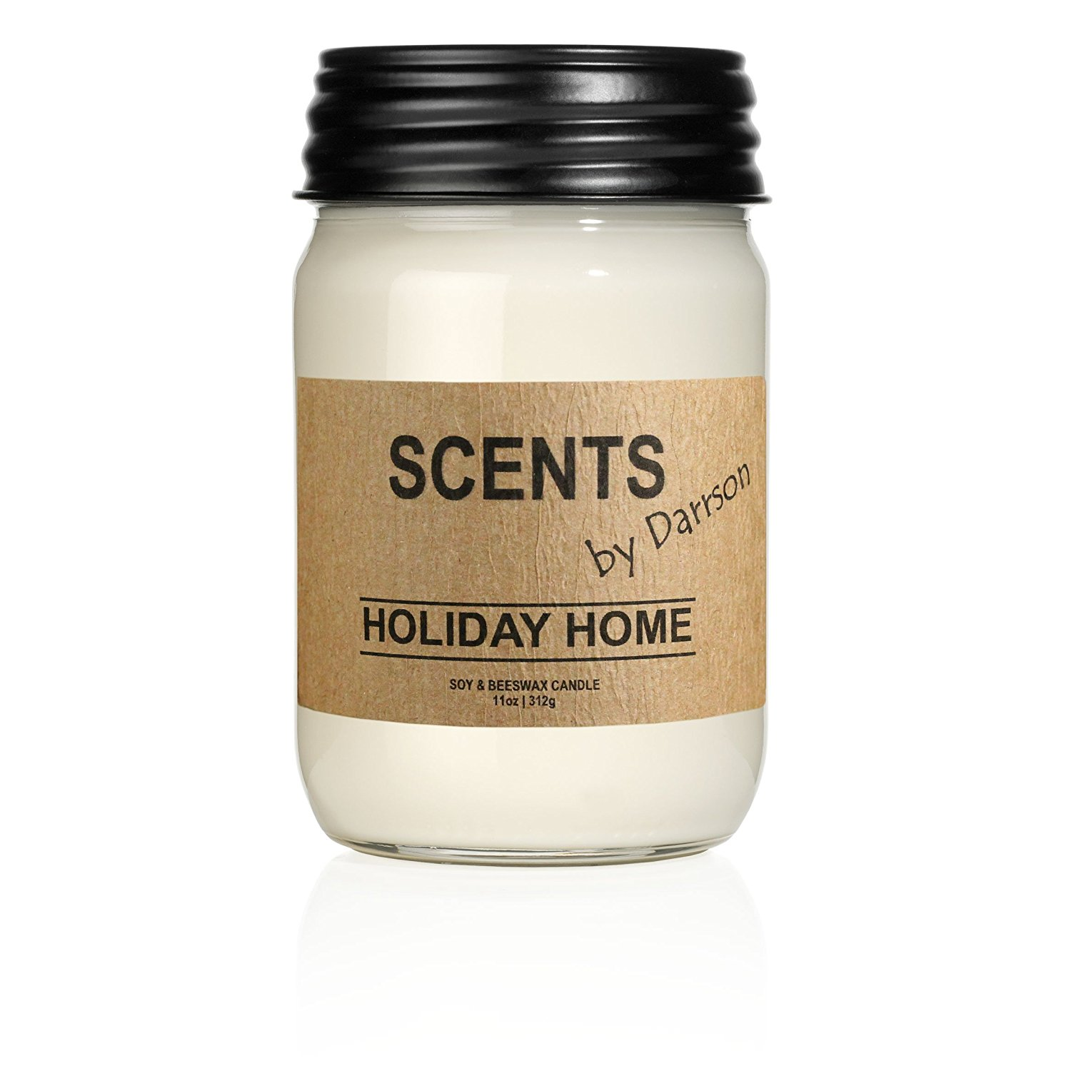 Get Quotations · HOLIDAY HOME   Original Mason Jar Soy Candle   50+ Hours  Of Fragrance U2013 Made