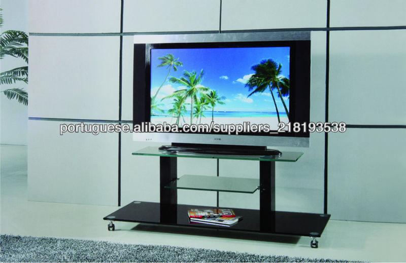 Estante De Vidro Temperado : Tv vidro temperado stands com estante made in china móveis de tv id