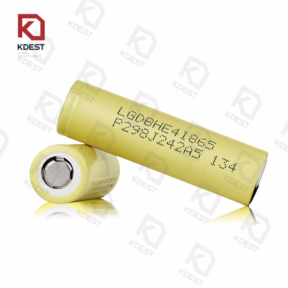 Imported from Korea rechargeable 18650 3.7v li-ion battery lg he4 18650 battery 2500mah