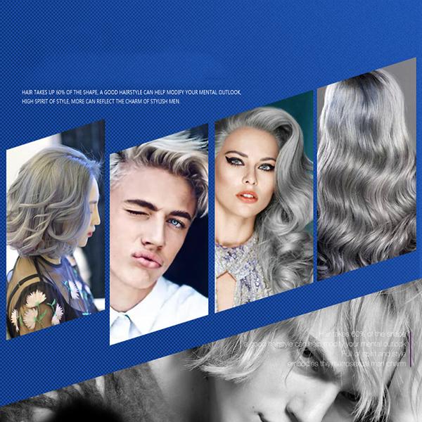 Super Quality Temporary Hair Dye Hair Silver Ash Gray Color Hair Wax