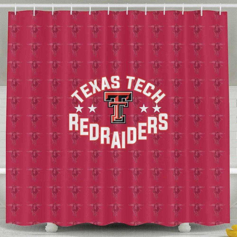 Get Quotations IWKULAD Ncaa Texas Tech Red Raiders Lady TTU Teams Logo Customized Shower Curtains