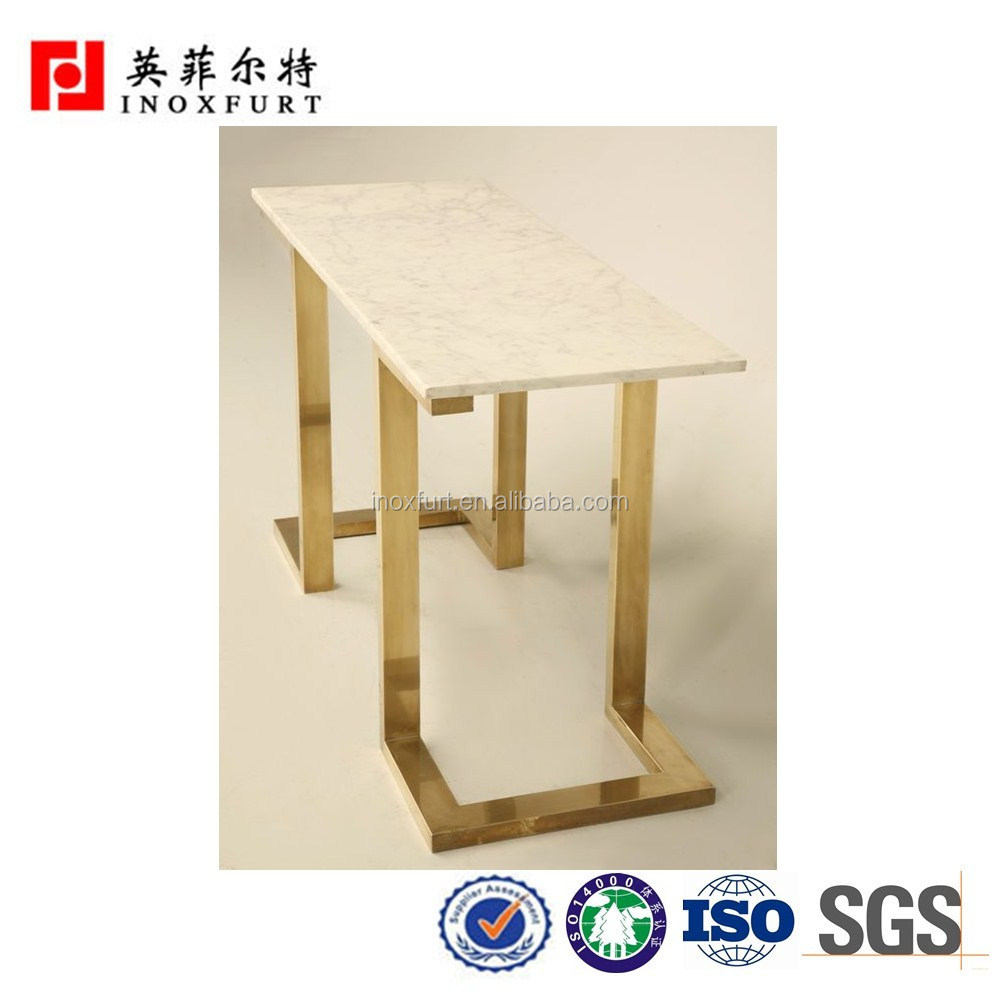 Modern Stainless Steel Table Base For Marble Dining Table
