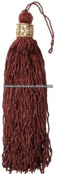 Cushion Cover Tassel T522 Deep Red Brown