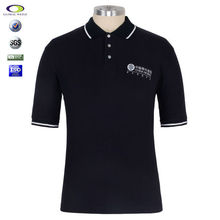 Shenzhen Chine fabricant coton jersey simple Noir SOIE IMPRESSION polo t-shirt