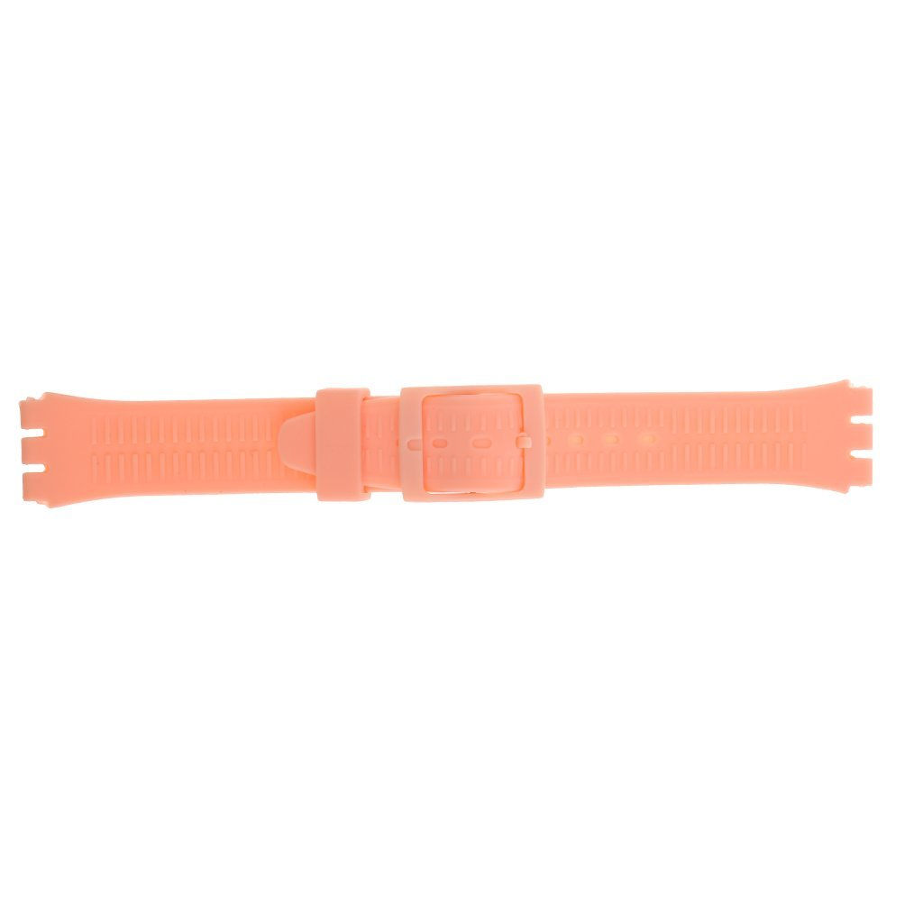 MonkeyJack 17mm Replacement Silicone Rubber Watch Band Waterproof Strap for Smart Watch