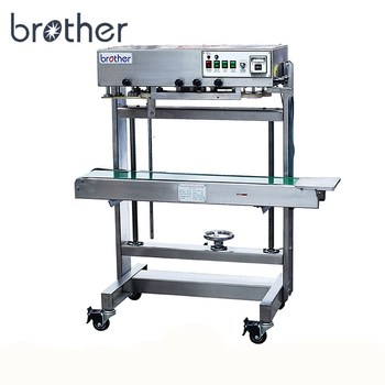 FRL600 Heavy Duty Model Continuous Vertical Plastic Packet Sealing Machine with Conveyor Belt
