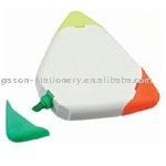 triangle shaped 3 colors highlighter for promotion
