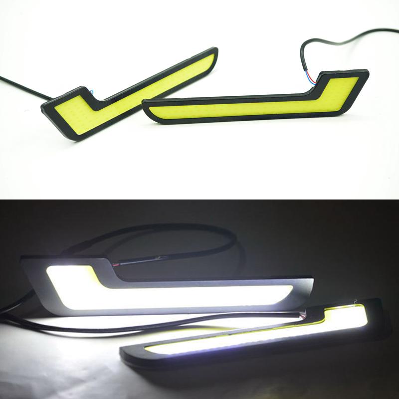 Universal 12 V COB автомобиль для укладки 7 L в форме из светодиодов DRL лёгкие супер яркость фары дневного света противотуманные фары