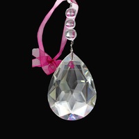 Good quality decoration Hanging Prism Craft Wedding Ornament For Home Party glass crystal Suncatcher