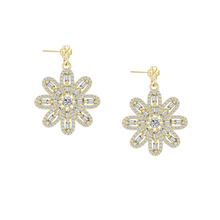 FZ4-S13C 18K gold over sterling silver earring new wedding jewelry set CZ stones for bridal