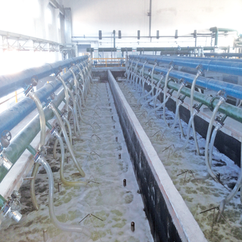 High concentration domestic sewage treatment plant of submerged uf membrane