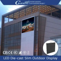 Outdoor slim design aluminium led video display wall on hot sale