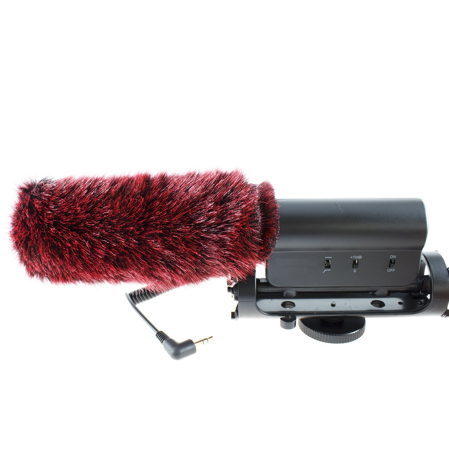 "Barcelonetta Star 598 Microphone Deadcat Windscreen fits on Takstar SGC 598 Mic Foam 5"" x 1.4"" (L x D), Wine"