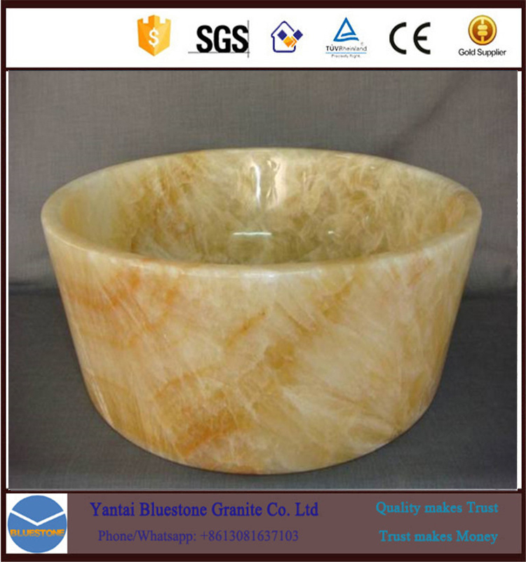 bathroom single wash basin gold stone pedestal basin