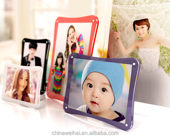 Fashion Acrylic photo frame eco-friendly material care family 3D funny photo frames