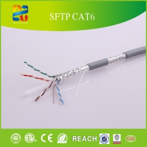 Professional Manufacturers Lan cable 23awg Bare copper sftp cat 6 cable sftp/ftp/utp network sftp cat6 price