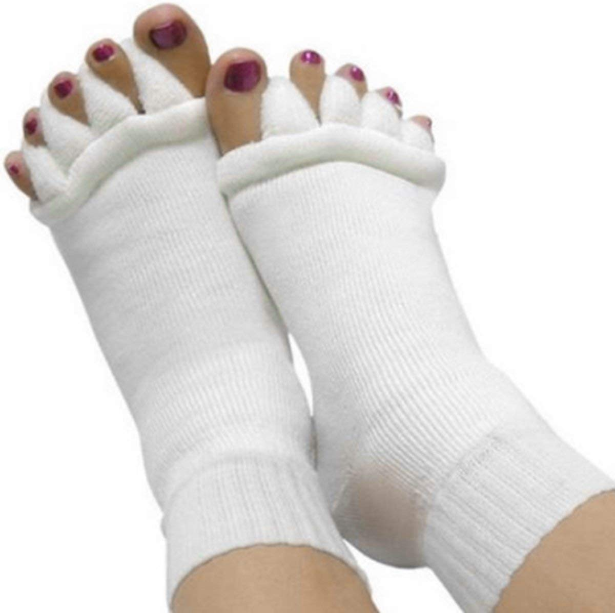 961839d0293 Get Quotations · Moja Sports Toes Alignment Socks Open Five Toe Separator  Spacer Relaxing Comfort Tendon Pain Relief Comfy