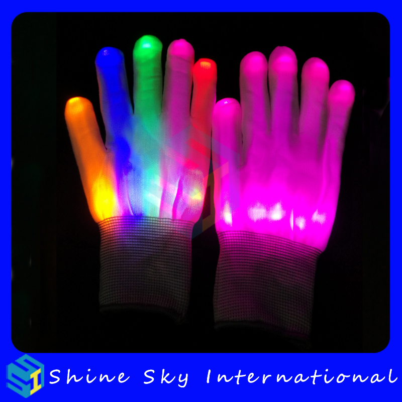 Pretty well made glow in the dark white gloves,gloves glow in the dark concert/music show/party party decorations gloves
