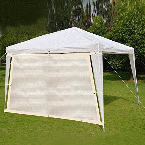 Get Quotations · Shatex 90% Wheat 10x14ft New Design Hanging Up Sunblock  Shade Panel For Window/