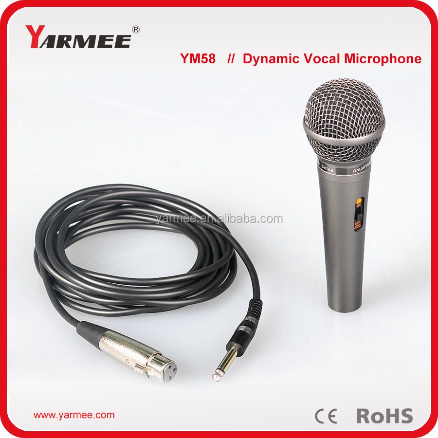New design wired vocal hand dynamic microphone YM58 -- YARMEE