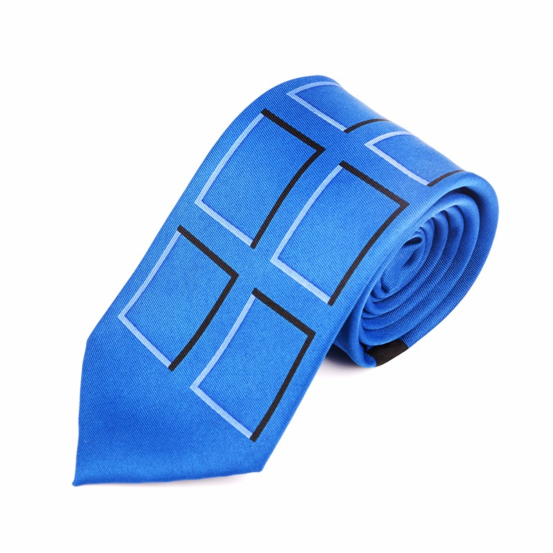 Wholesale Fashion Police Public Call Box Neck Tie Halloween Adult Doctor Who Tardis Neck Tie