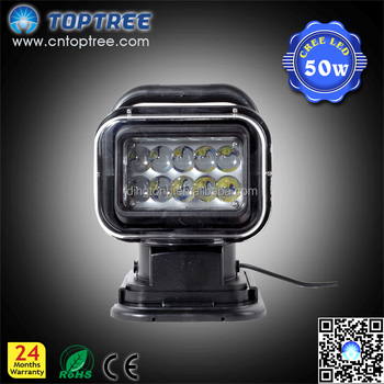 50w Cree Led Wireless Remote Control Spotlight Search Light,Marine ...