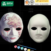 Custom Painting Woman Halloween Party Paper Masquerade Face Masks