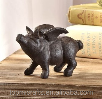 Flying Pig Design Table Decor Cast Iron Craft Buy Cast Iron Craft