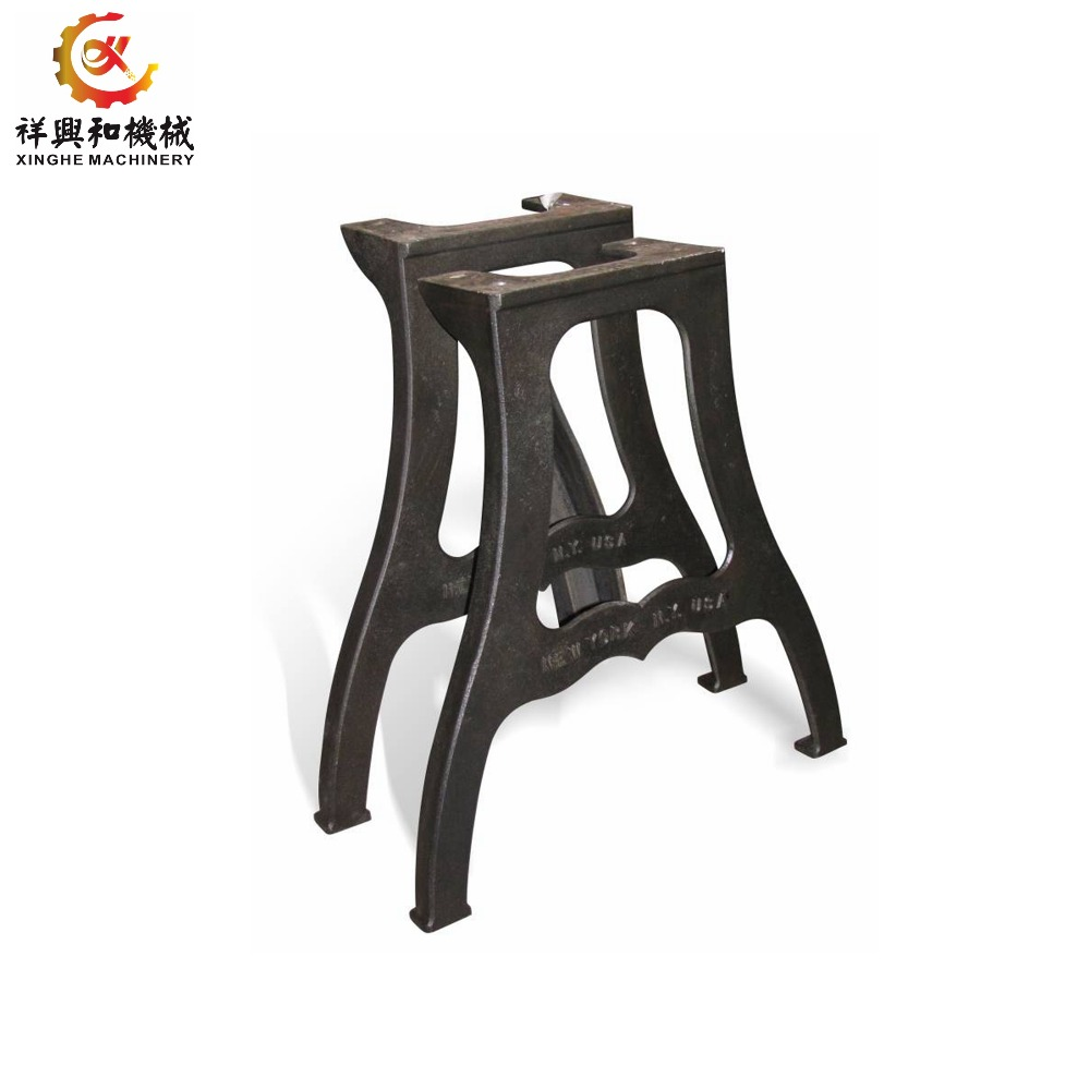 Outdoor furniture cast iron bench legs metal ductile iron cast table legs for park