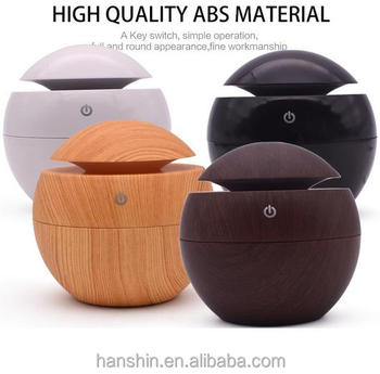 140ml Aroma Essential Oil Diffuser,New Wood Grain Ultraso Humidifier for Office Home Bedroom Living Room Study Yoga Spa VicTsing