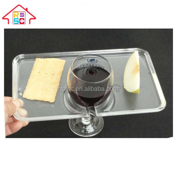 Transparent Plastic Party Plates with Built-In Stemware HolderPlastic Wine Holder  sc 1 st  Alibaba & Transparent Plastic Party Plates With Built-in Stemware Holder ...