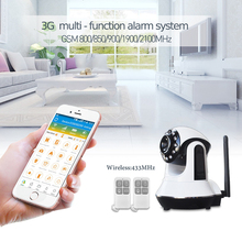 WIFI+GSM/3G security alarm system support Phone PC camera video SMS Call alarm 88 wireless sensor Smart home automation control