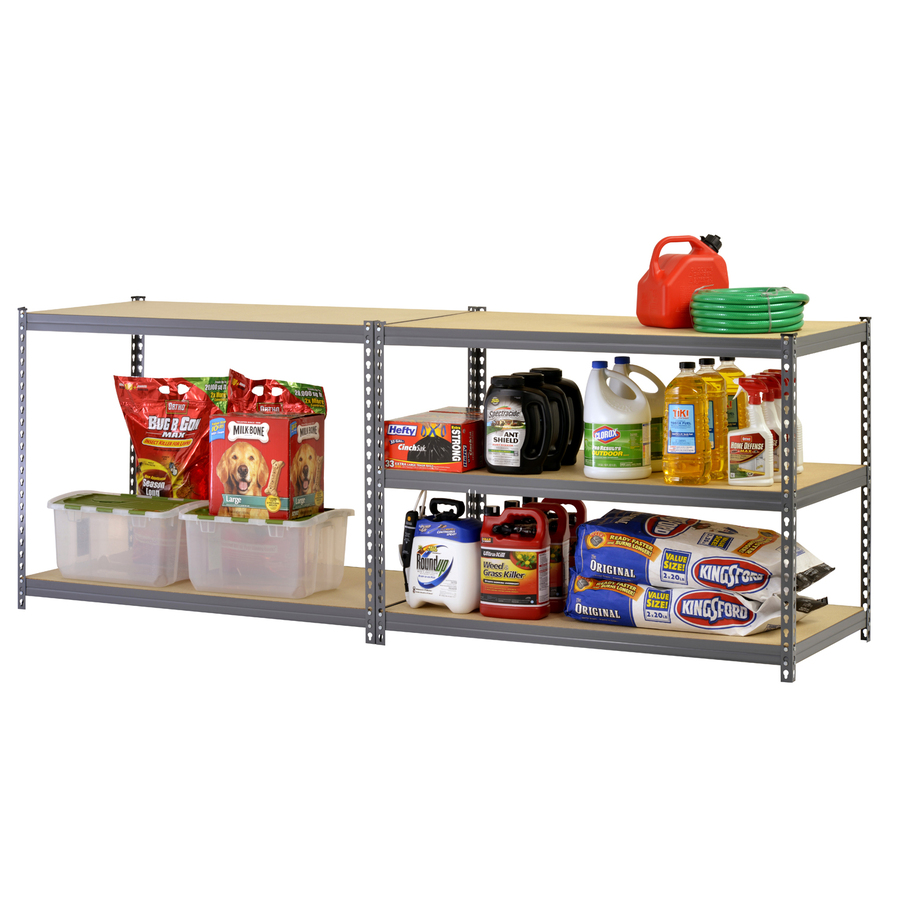 5 layers DIY perforated metal frame shelving for household
