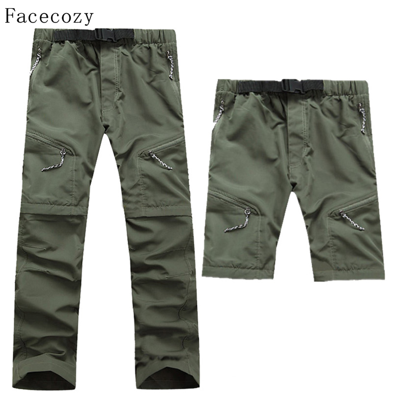 4c4c73bcfded Facecozy Men Summer Removable Pants Outdoor Quick Dry Pants UV Protection  Pants Breathable Fishing Hunting Pants