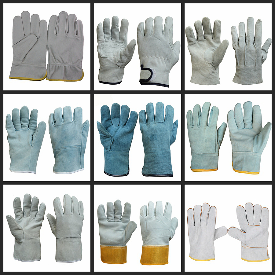 Jespai Factory 10inch Soft Pigskin Knit Back Leather Driving Gloves for Hand Protection