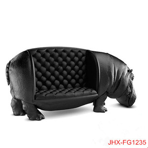 Popular Hippo Sofa Fiberglass Customized Chairs For Decoration