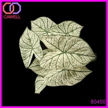 7 leaves artificial caladium bush for home decoration