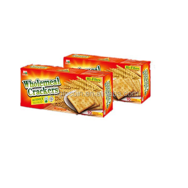 220g Wholemeal biscuits degestive biscuits square semi-hard biscuits