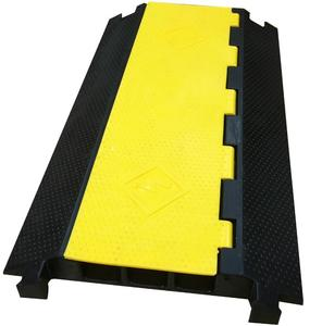 3 channel plastic traffic speed hump rubber driveway curb ramp