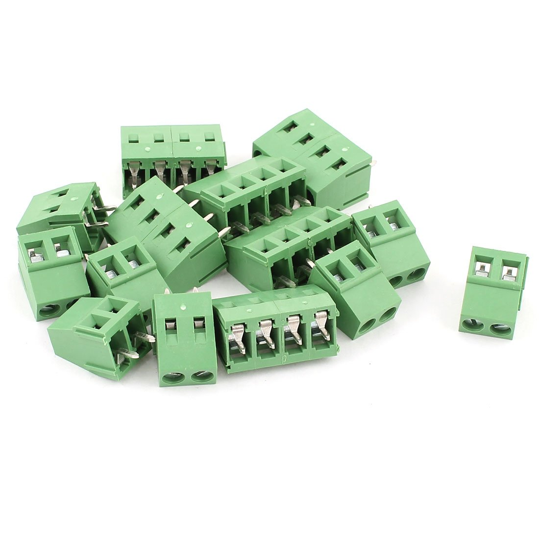 uxcell AC 300V 10A 2 Pins PCB Terminal Block Connector 5.0mm Pitch 10 Pcs