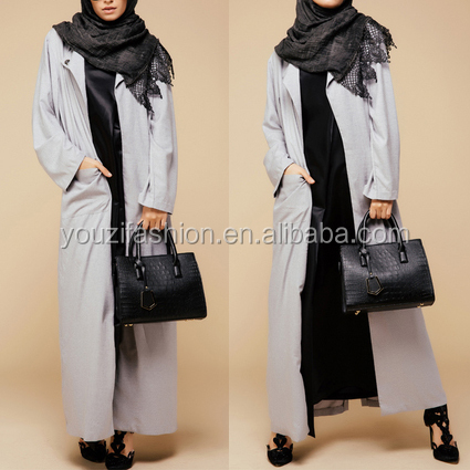 One button turkish coat style abaya with kimonoturkish coat style abaya fashion islamic abaya